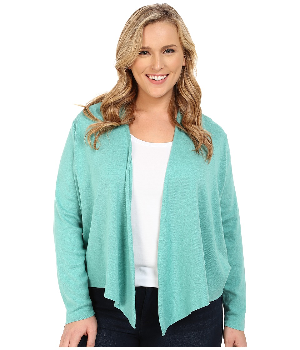 NIC+ZOE - Plus Size 4-Way Cardy (Downy Heather) Women's Sweater
