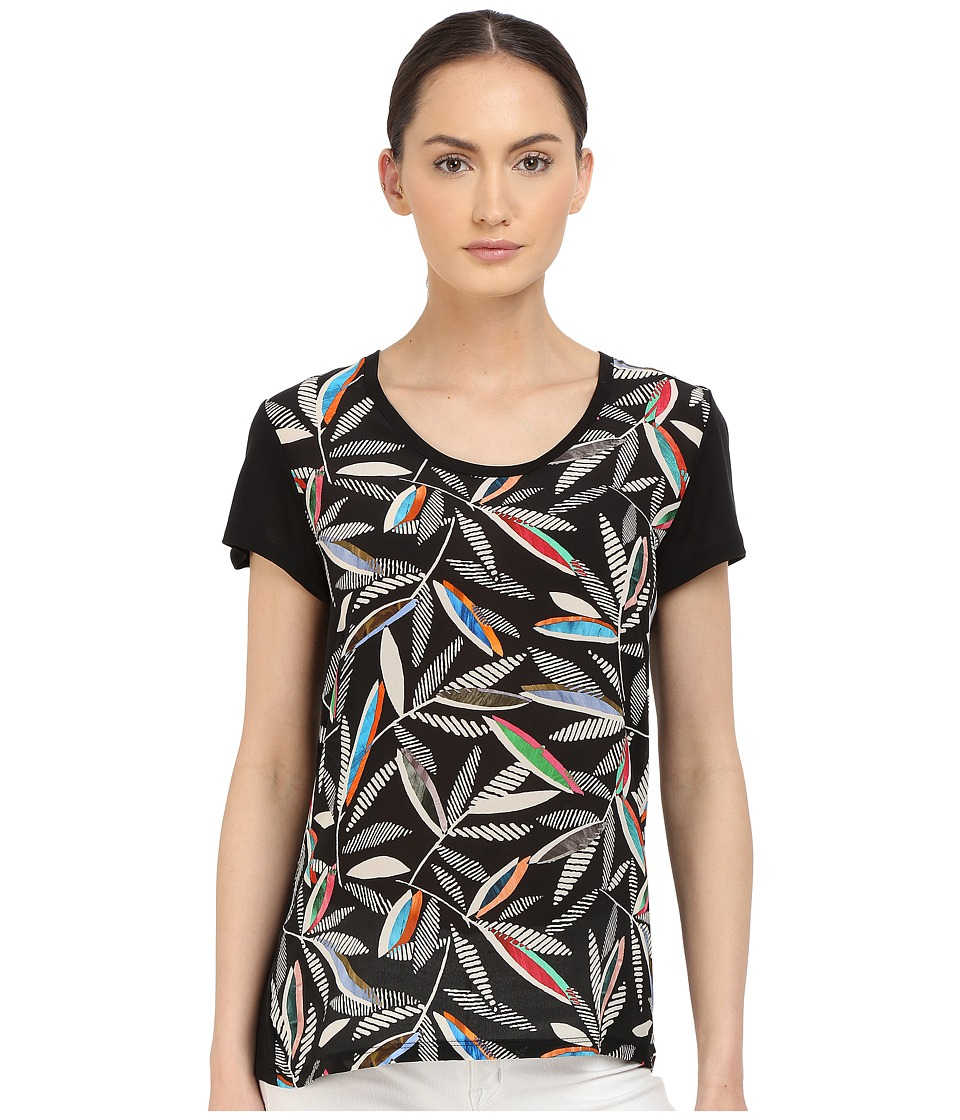 Paul Smith - Black Label Rowan Print T-Shirt (Black) Women's T Shirt
