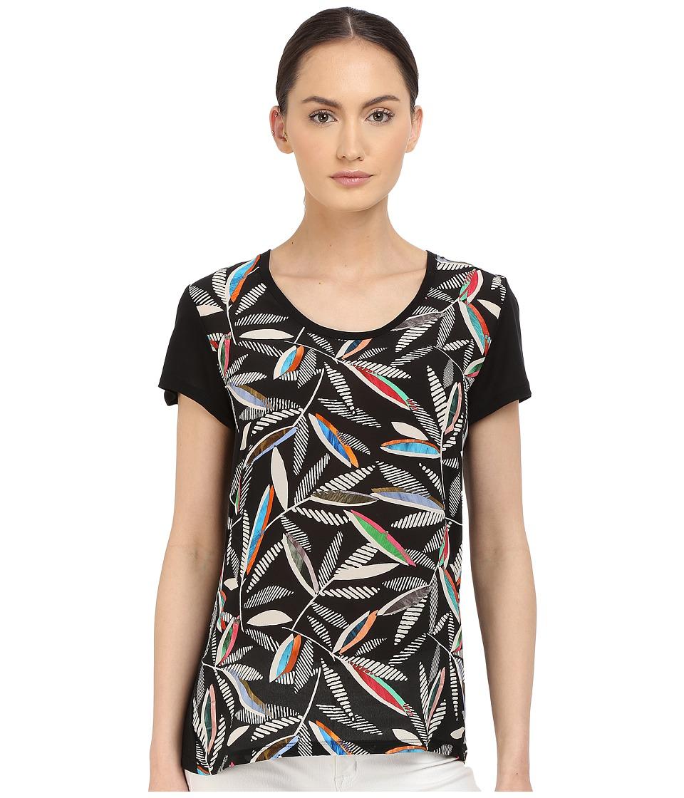 Paul Smith - Black Label Rowan Print T-Shirt (Black) Women's T Shirt