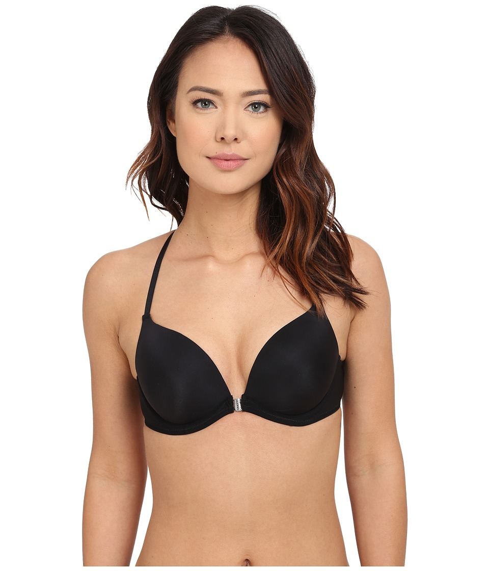 OnGossamer - Front Close Racerback Push-Up Bra G9025 (Black) Women's Bra