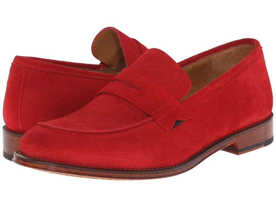Paul Smith - PS Gifford Suede Loafer (Red) Men's Slip on Shoes