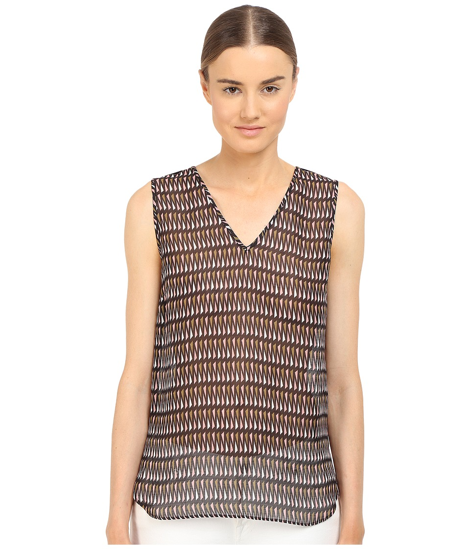Paul Smith - Black Label Geo Print Tank Top (Pink/Green/White) Women's Sleeveless