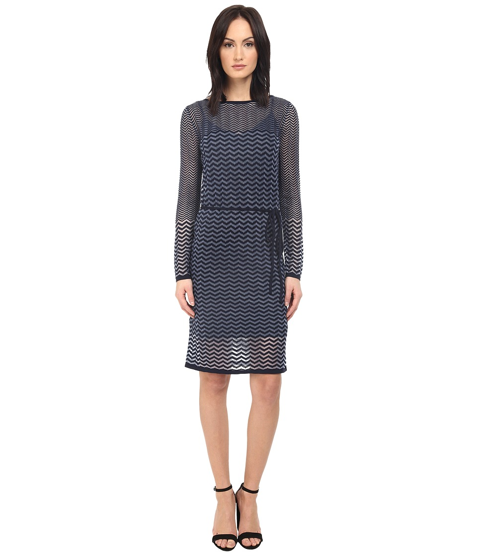 Paul Smith - Black Label Knit Tie Dress (Blue/Navy) Women's Dress