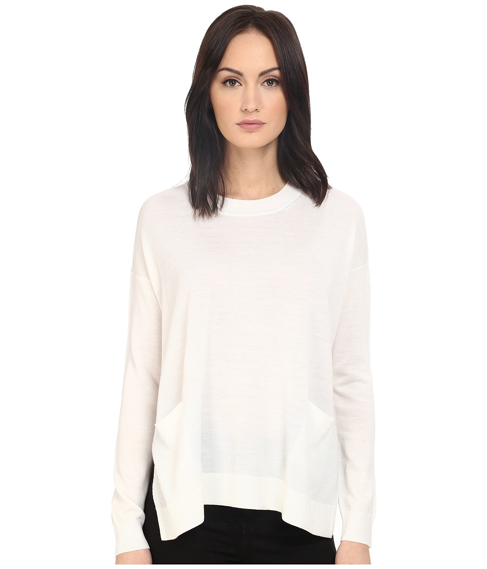 Paul Smith - Black Label Oversized Lightweight Sweater (White) Women's Sweater