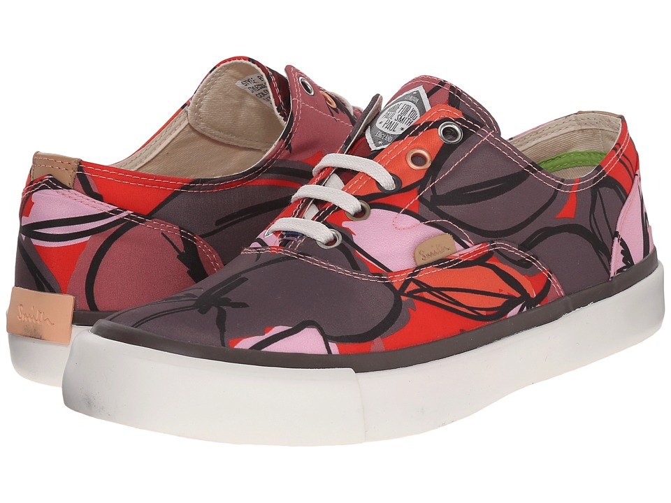 Paul Smith - Balfour Floral Canvas Sneaker (Red) Women's Lace up casual Shoes