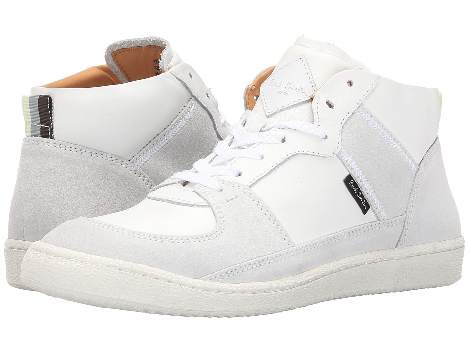 Paul Smith - Jeans Dune/Calf/Off-White Suede Sneaker (White) Men's Shoes