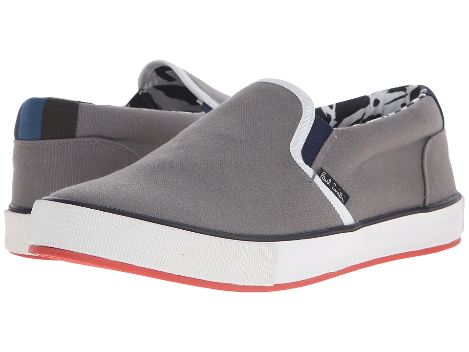 Paul Smith - Jeans Brontis Warm Cotton Canvas Slip-On (Grey) Men's Slip on Shoes