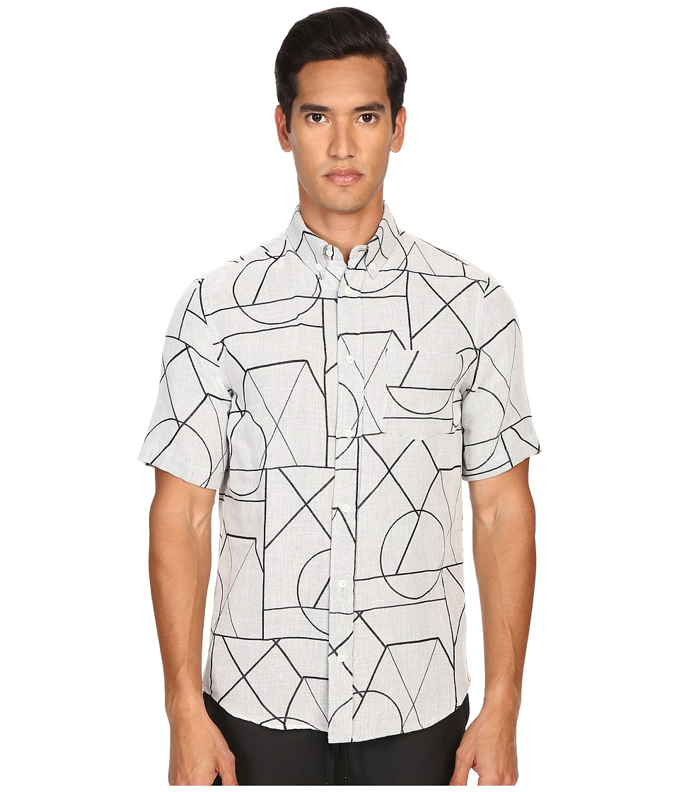 McQ - Short Sleeve Shields 01 Button Up (Mist Angle) Men's Short Sleeve Button Up