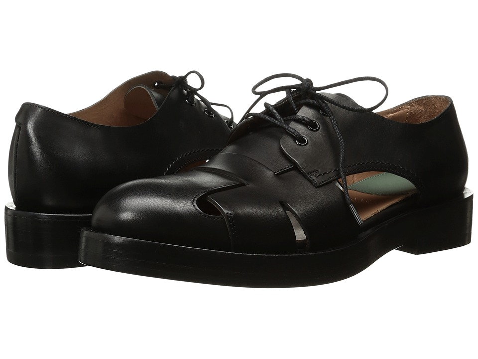Paul Smith - Nero Etrusco Cyril Open Brogue (Black) Women's Lace up casual Shoes