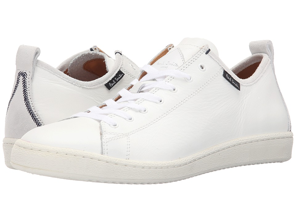 Paul Smith - Jeans Miyata Calf Sneaker (White) Men's Shoes