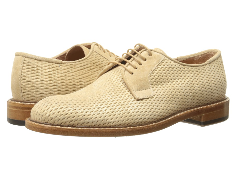 Paul Smith - Stokes Putty/Gold Perlato Suede Net (Gold) Women's Lace up casual Shoes