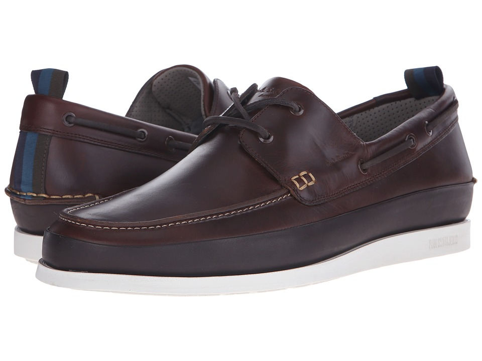 Paul Smith - Jeans Branca Scotch Boat Shoes (Brown) Men's Slip on Shoes
