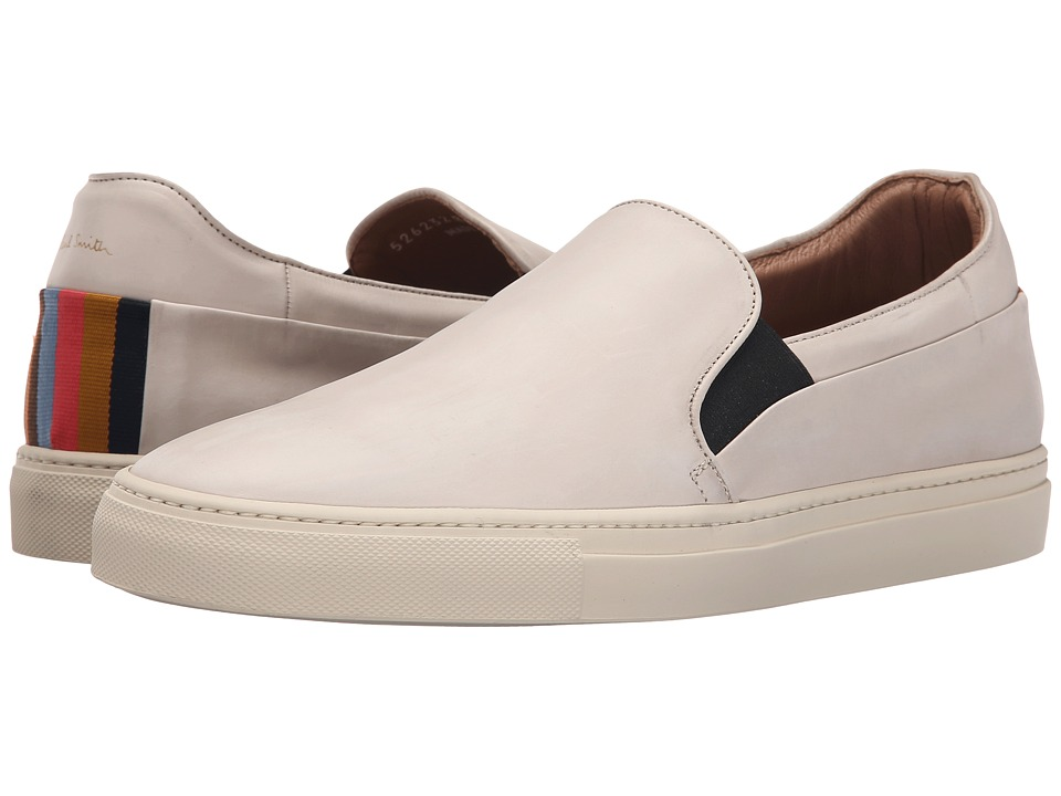 Paul Smith - Zorn Quiet Umb Calf Sneaker (White) Men's Shoes