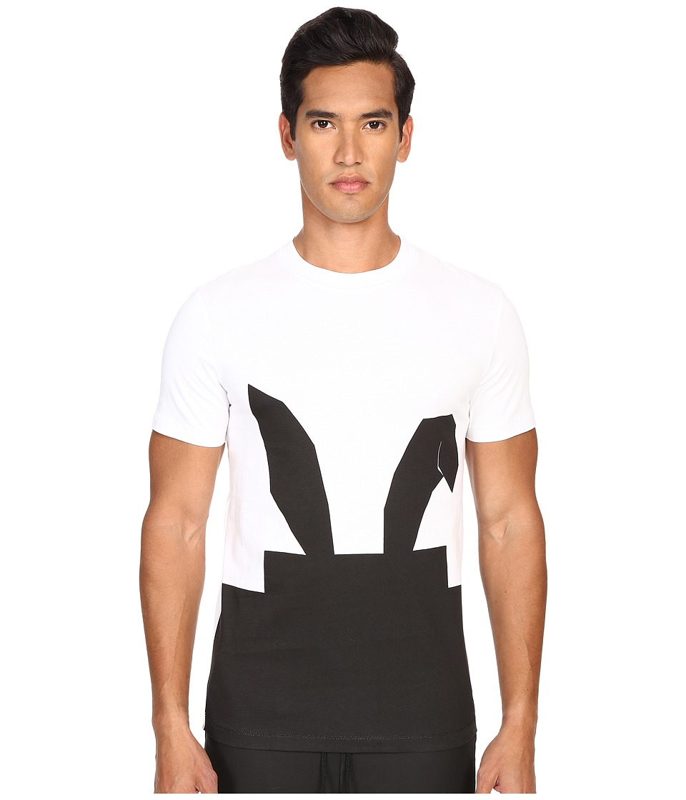 McQ - Short Sleeve Digital Bunny Crew Neck Tee (Optic White) Men's T Shirt