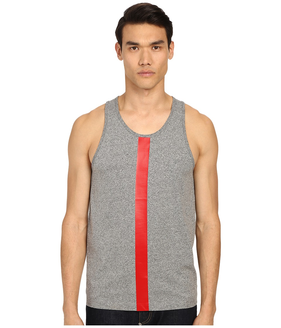 McQ - Vertical Bar Tank Top (Grey Mouline) Men's Sleeveless
