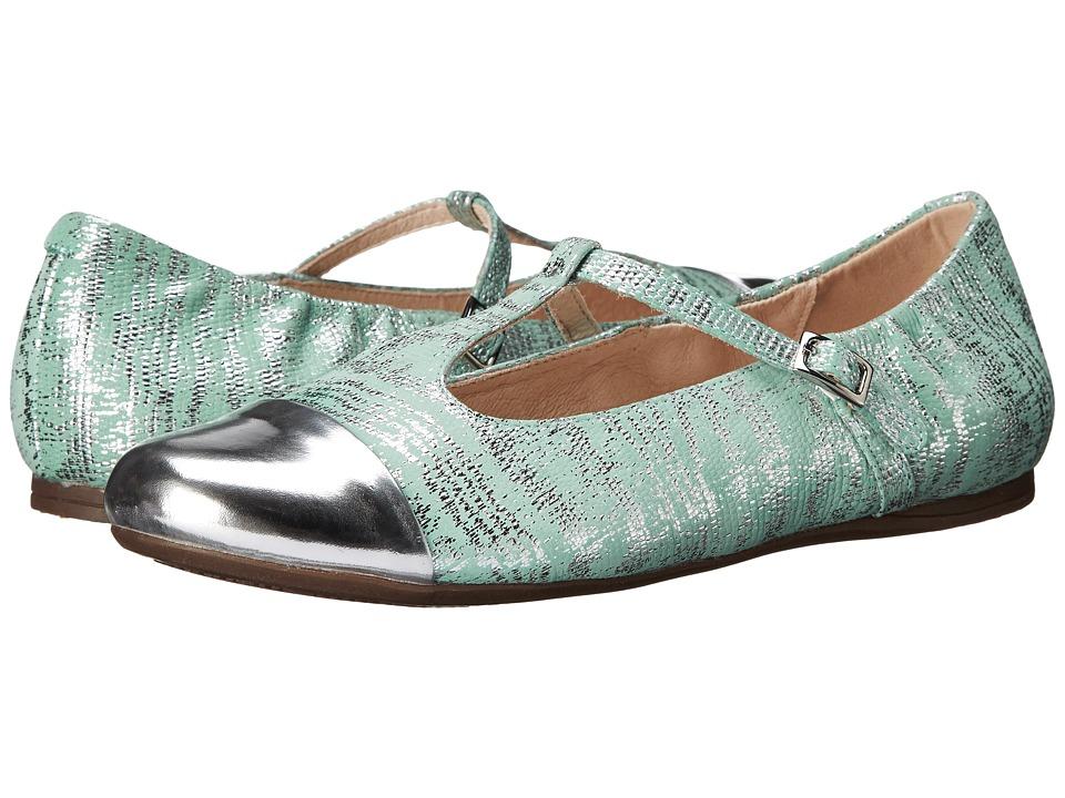 Venettini Kids - 55-Annie (Little Kid/Big Kid) (Silver Mirror Leather/Aqua Mirror Patent) Girl's Shoes