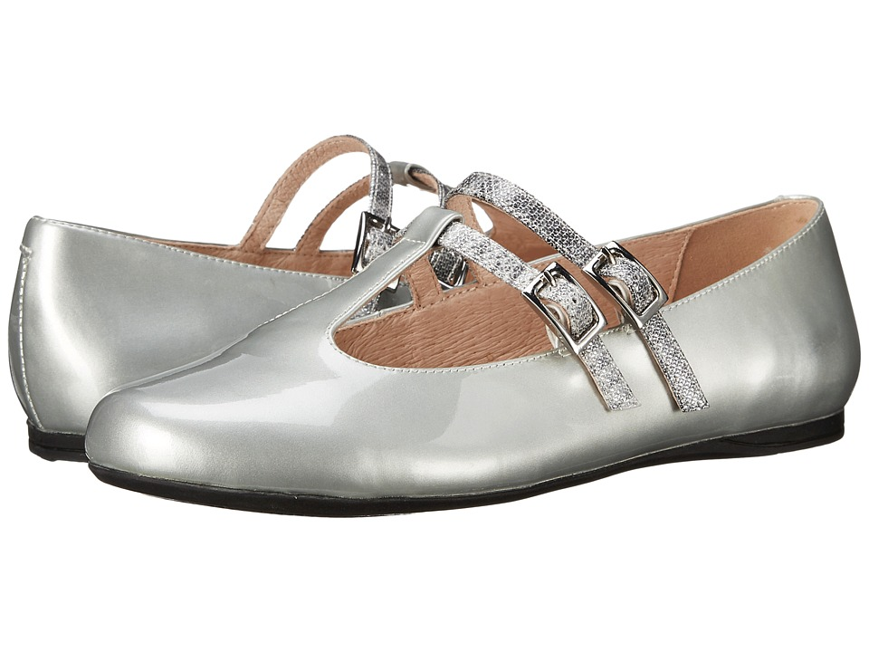 Venettini Kids - 55-Avery (Little Kid/Big Kid) (Silver Patent/Silver Ritzy Leather) Girls Shoes