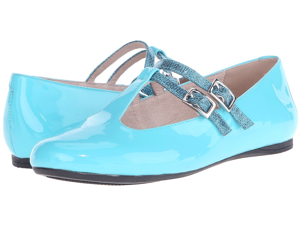 Venettini Kids - 55-Avery (Little Kid/Big Kid) (Turquoise Patent/Turquoise Ritzy Leather) Girls Shoes