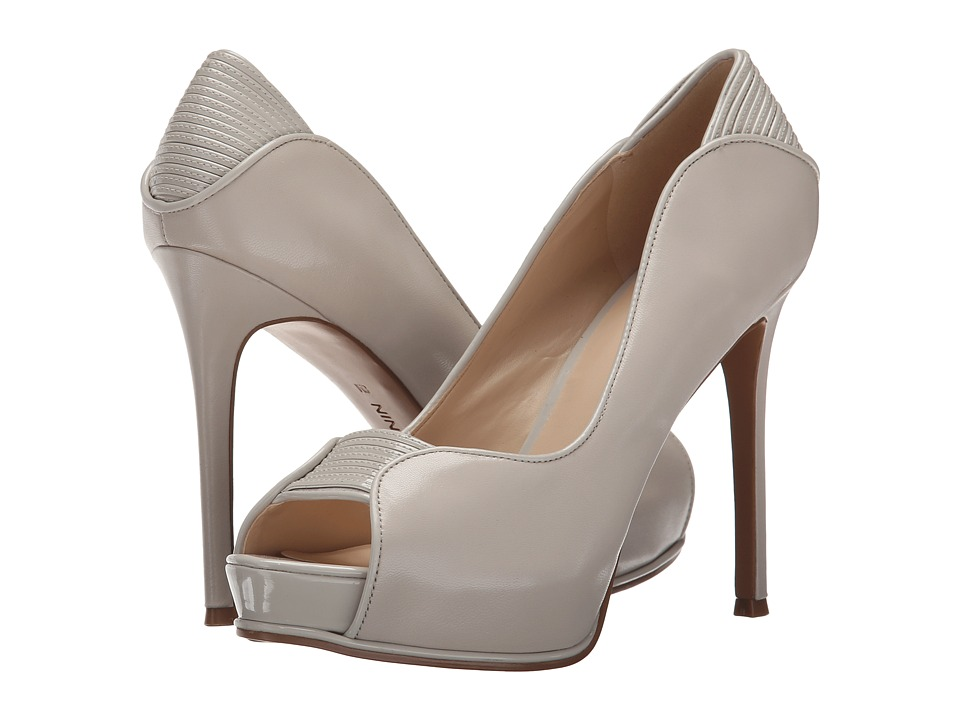Nine West - Camerashy (Light Grey/Light Grey Leather) Women's Shoes