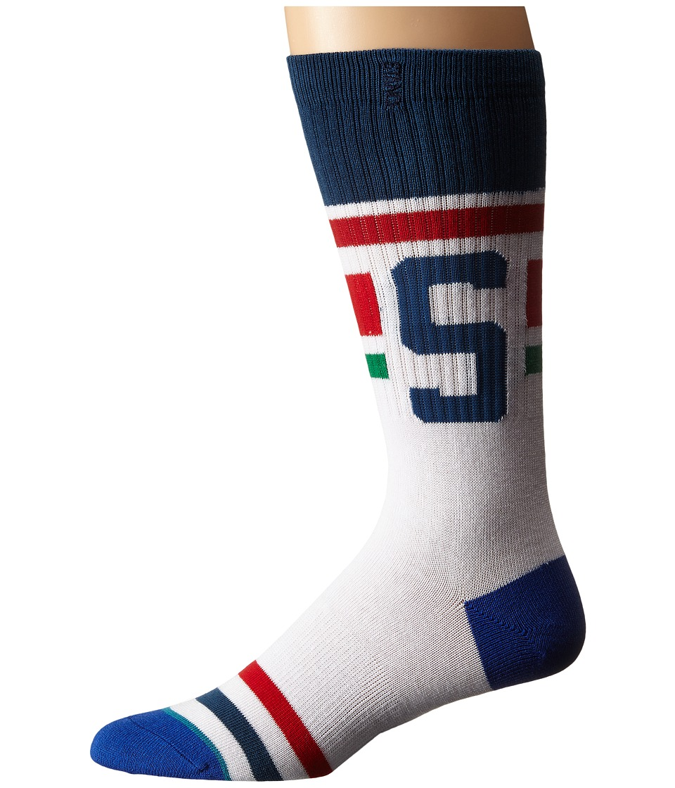 Stance - Cleats (White) Men's Crew Cut Socks Shoes