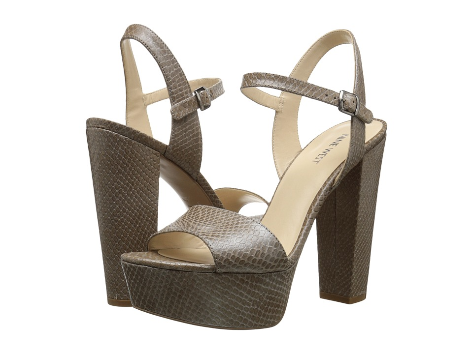Nine West - Carnation (Grey Textured Leather) High Heels