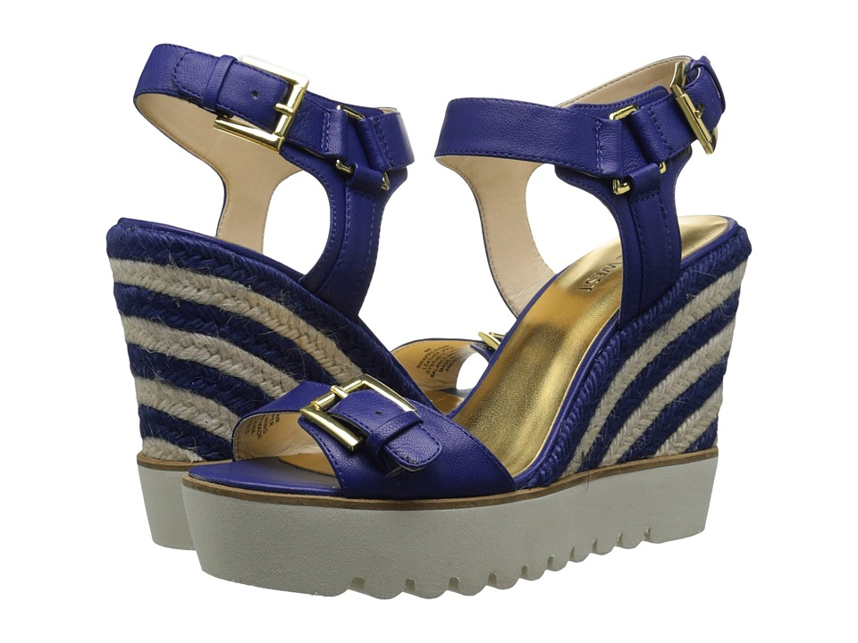 Nine West Aprilshower (Dark Blue Leather) Women