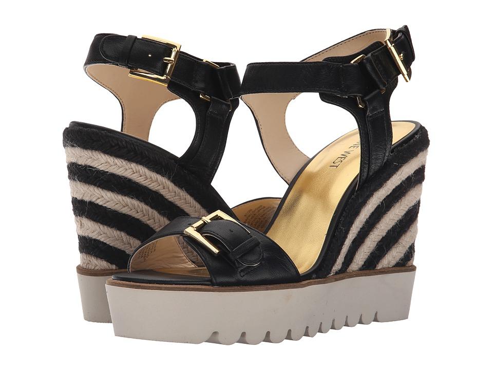 Nine West - Aprilshower (Black Leather) Women's Shoes