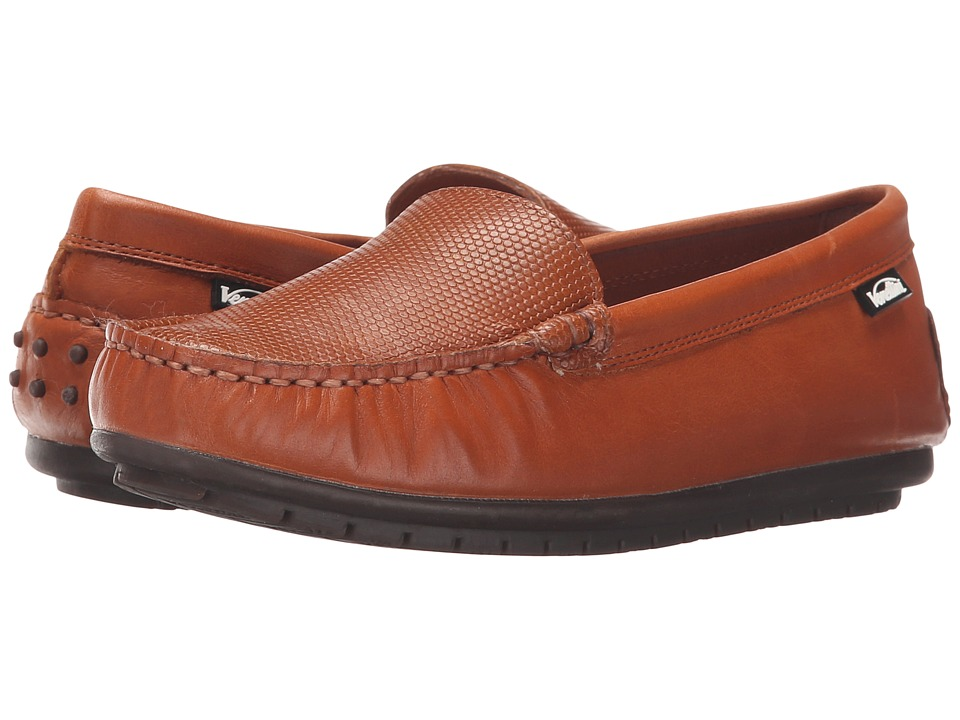 Venettini Kids - 55-Gordy (Toddler/Little Kid/Big Kid) (Chestnut Silk Wax Leather/Luggage Mambo Leather) Boys Shoes