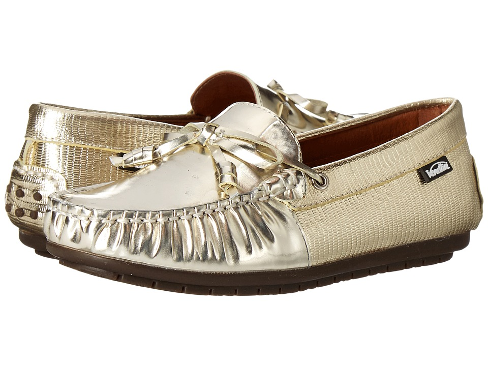 Venettini Kids - 55-Hudson (Toddler/Little Kid/Big Kid) (Gold Mirror Leather/Gold Reptile) Girl's Shoes