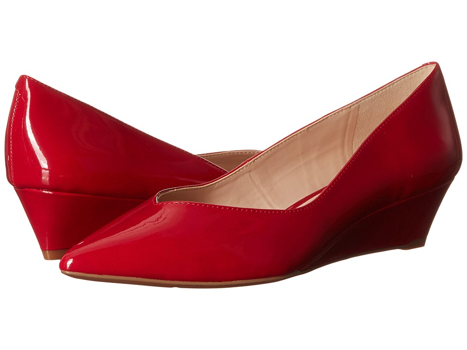 Nine West - Elenta (Red Patent Synthetic) Women's Wedge Shoes