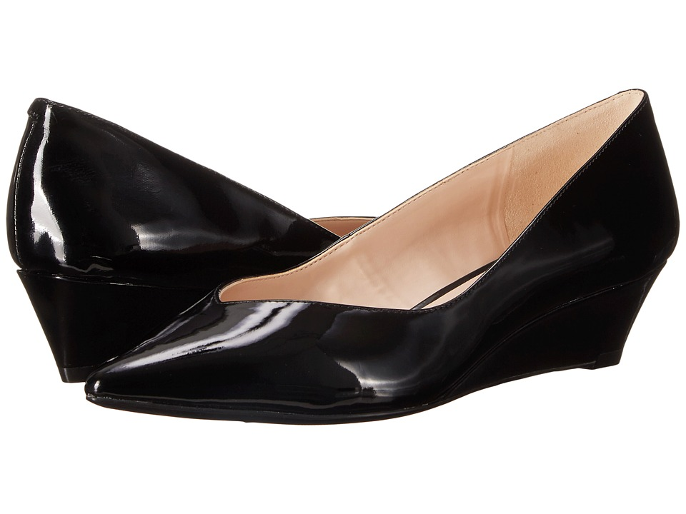 Nine West - Elenta (Black Patent Synthetic) Women's Wedge Shoes