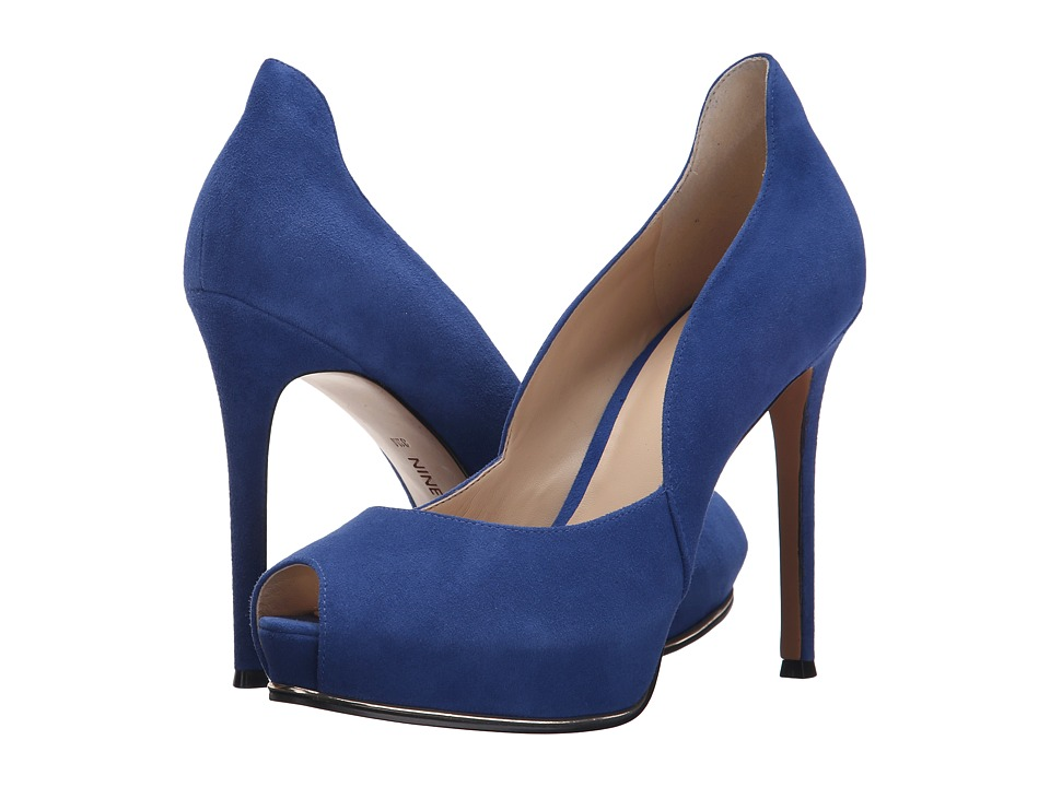 Nine West - Copilot (Blue Suede) High Heels