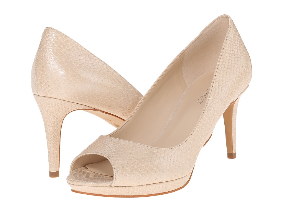 Nine West - Gelabelle (Off-White Leather) Women's Shoes