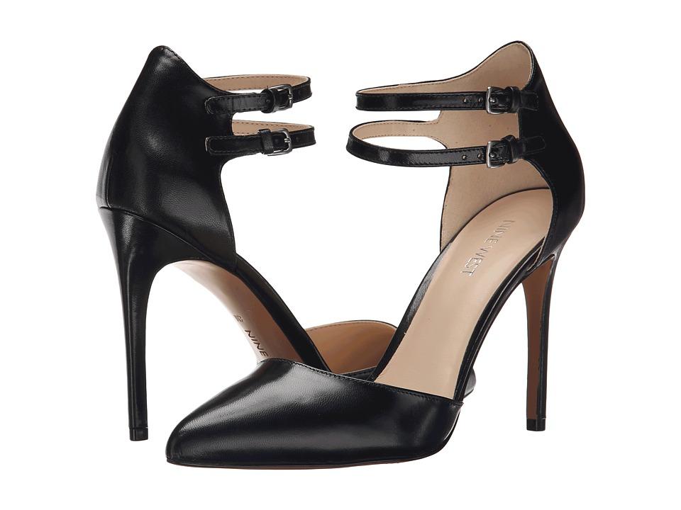 Nine West - Eastlyn (Black Leather) High Heels