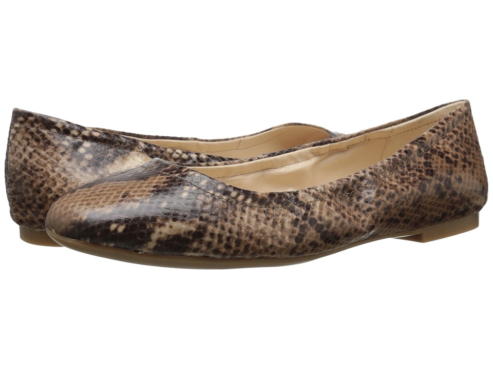 Nine West - Girlsnite (Dark Natural Multi Synthetic) Women's Flat Shoes