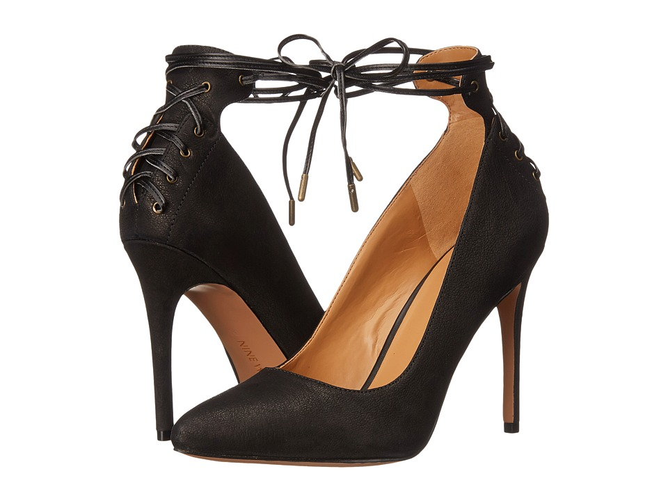 Nine West - Ebba (Black/Black2 Leather) Women's Shoes
