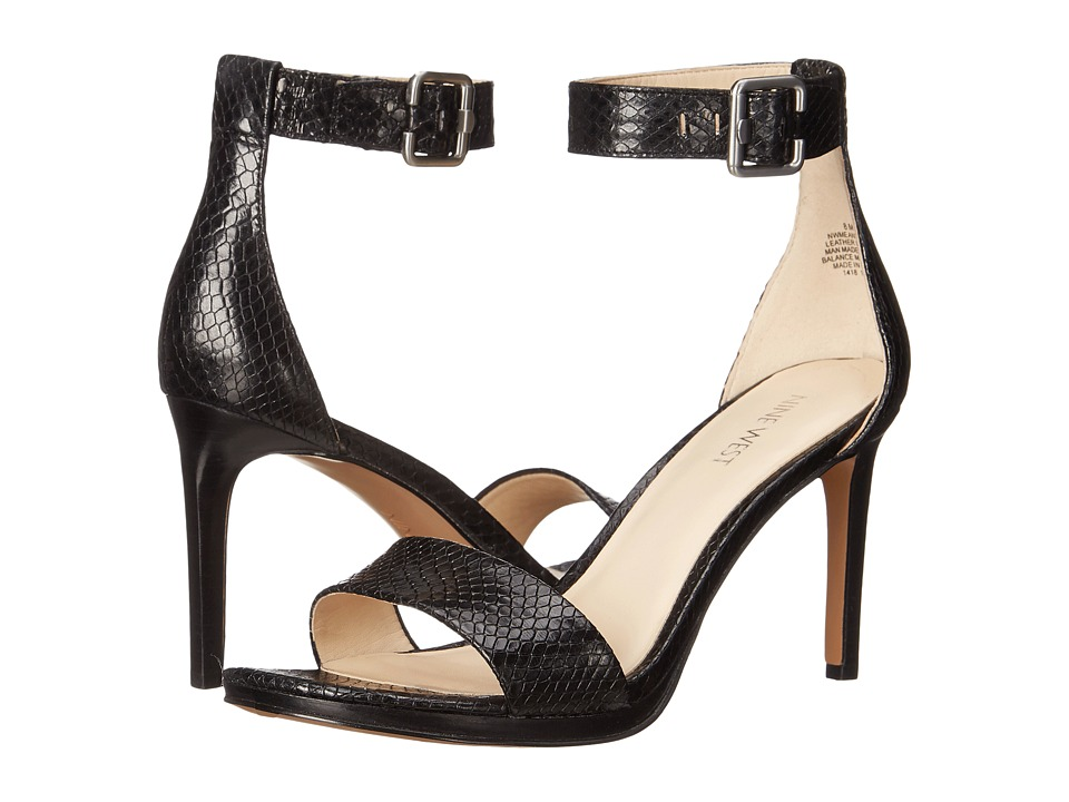 Nine West - Meantobe (Black Reptile) Women's 1-2 inch heel Shoes