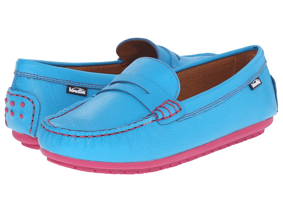 Venettini Kids - 55-Savor (Toddler/Little Kid/Big Kid) (Turquoise Safiano) Girls Shoes