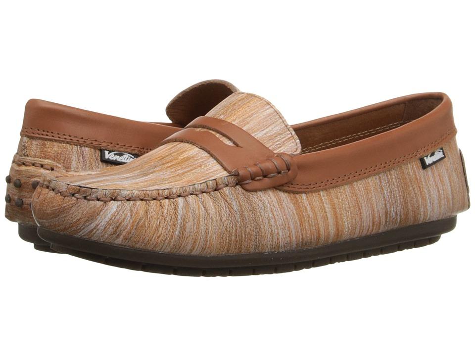 Venettini Kids - 55-Savor (Toddler/Little Kid/Big Kid) (Tan Portofino Leather/Luggage Wax Leather) Boys Shoes