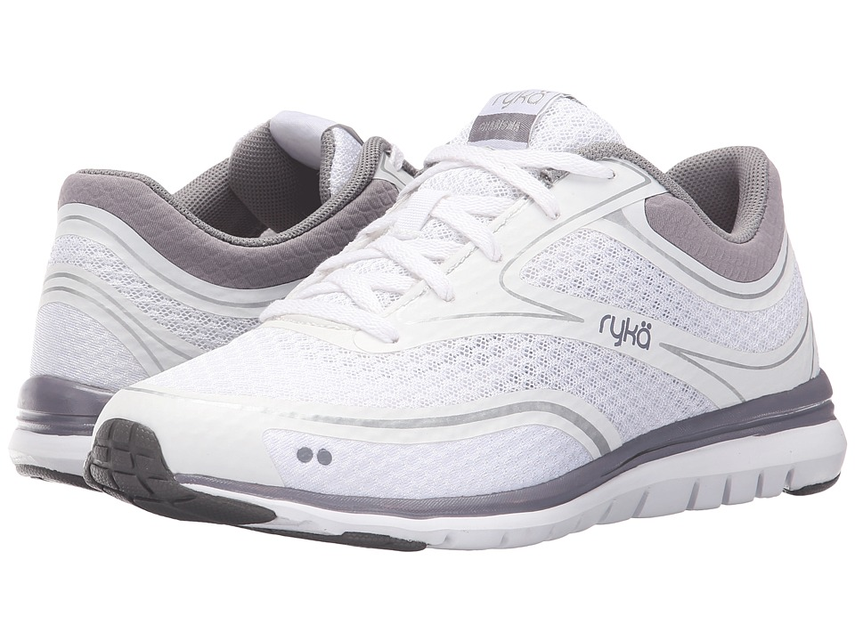 Ryka - Charisma (White/Purple Ash/Metallic Steel Gold/Dark Gull Grey) Women's Shoes