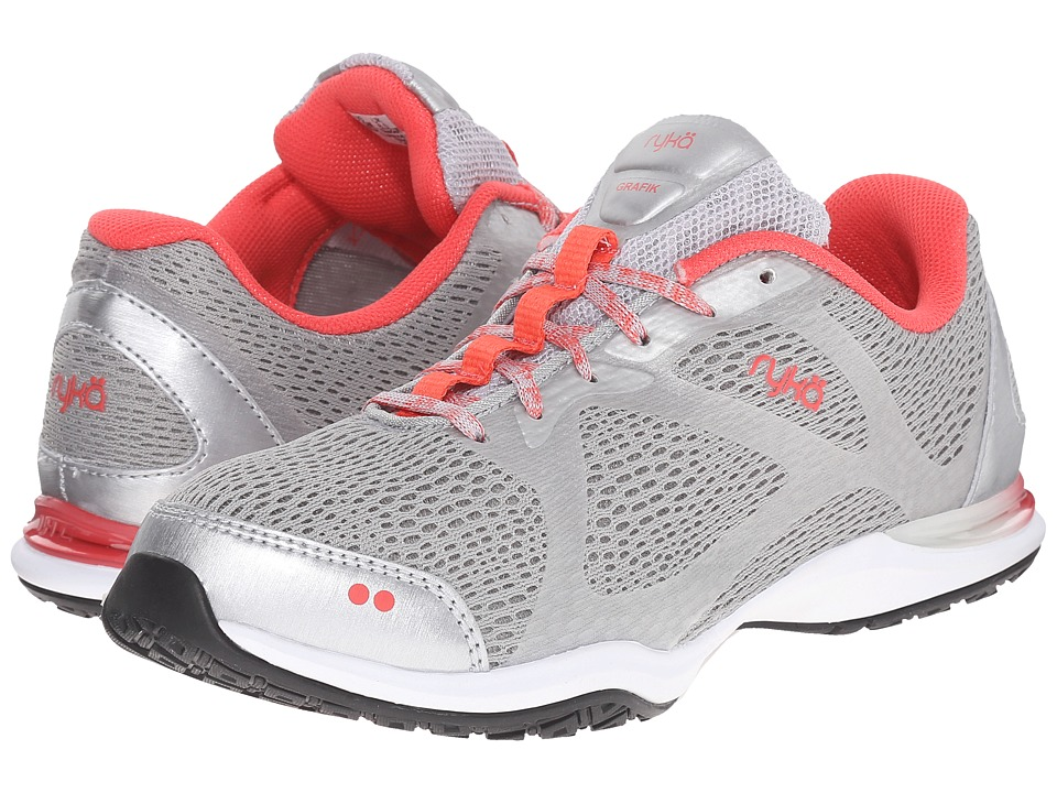 Ryka - Grafik V2 (Grey/Coral) Women's Cross Training Shoes