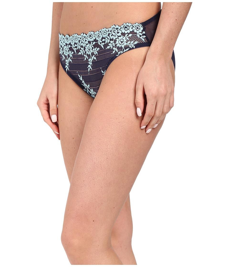 Wacoal - Embrace Lace Bikini (Peacoat/Gulf Stream) Women's Underwear