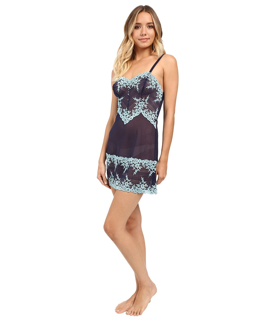 Wacoal - Embrace Lace Chemise (Peacoat/Gulf Stream) Women's Lingerie
