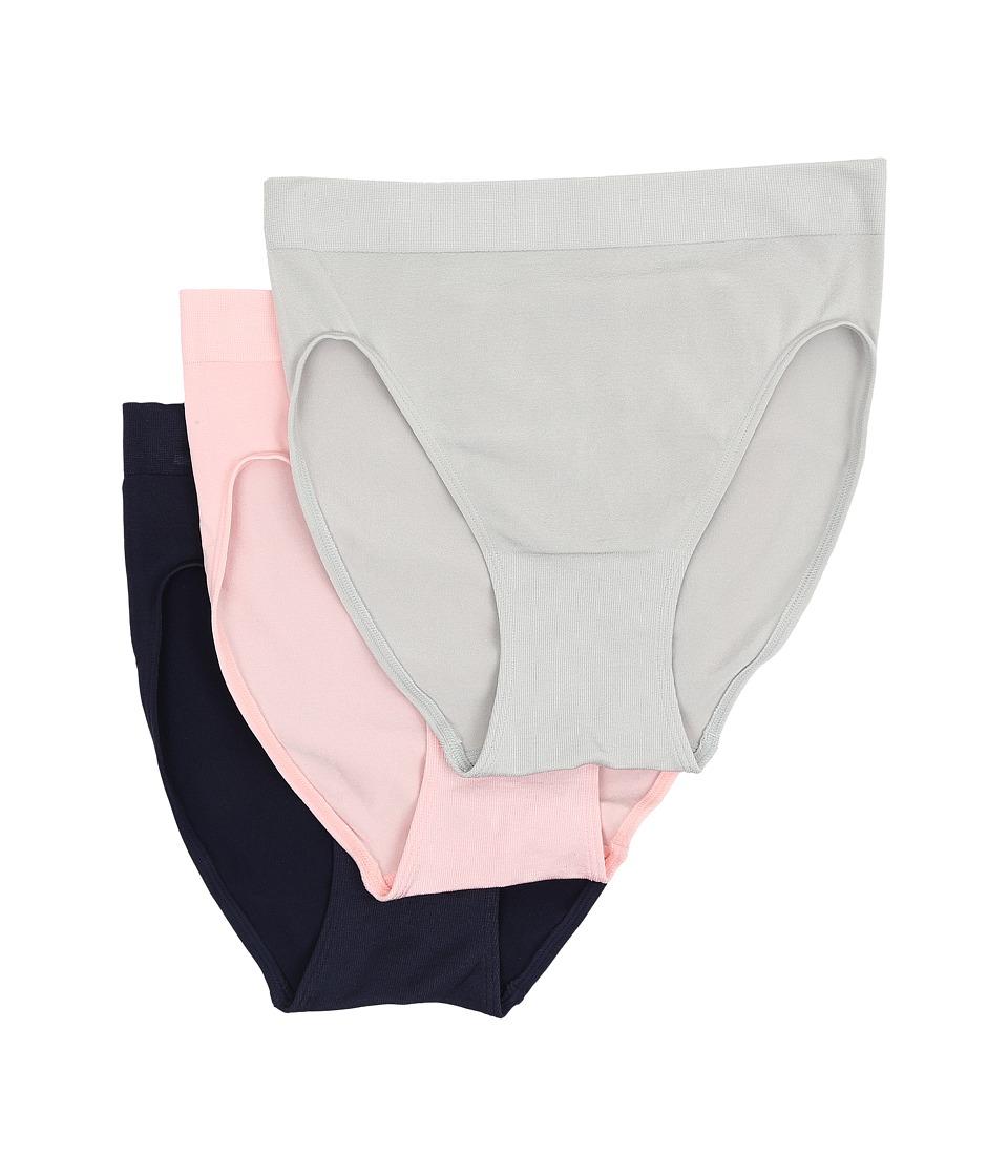 Wacoal - B-Smooth Hi-Cut Brief (High Rise/Crystal Rose/Peacoat) Women's Underwear
