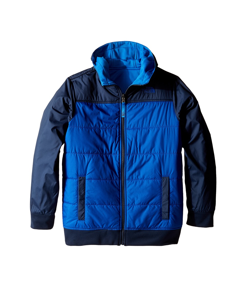 The North Face Kids - Reversible Quilted Surgent Hoodie (Little Kids/Big Kids) (Cosmic Blue) Boy's Coat