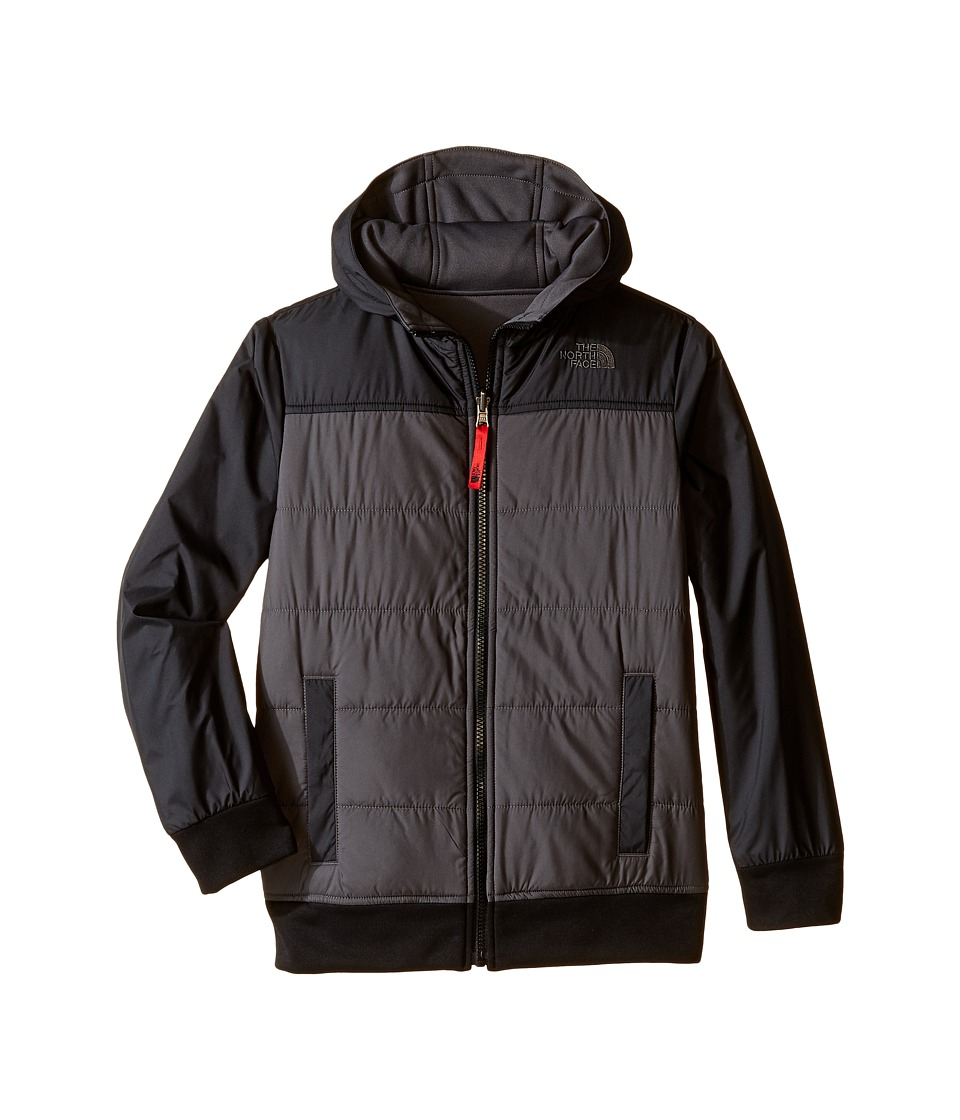 The North Face Kids - Reversible Quilted Surgent Hoodie (Little Kids/Big Kids) (TNF Black) Boy's Coat