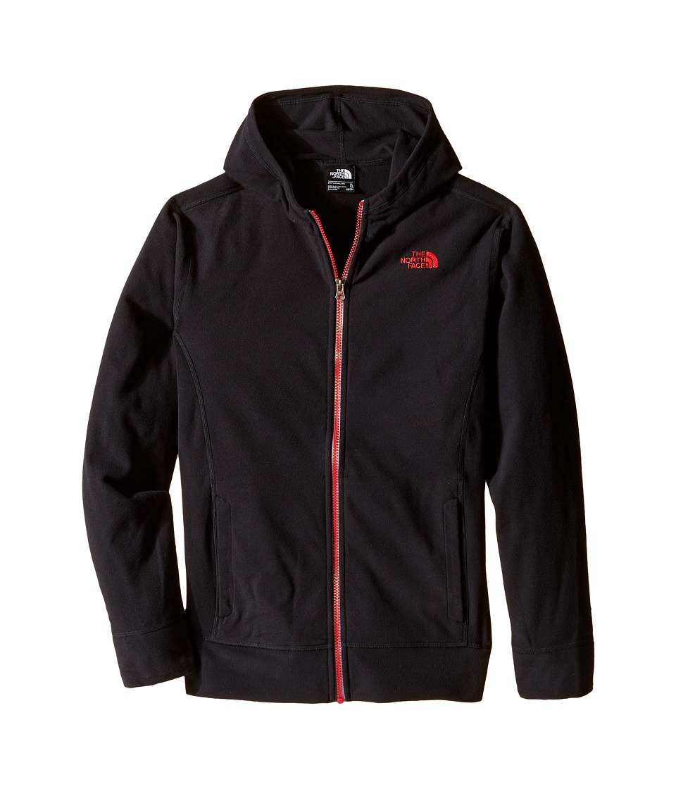 The North Face Kids - Glacier Full Zip Hoodie (Little Kids/Big Kids) (TNF Black/TNF Red) Boy's Sweatshirt