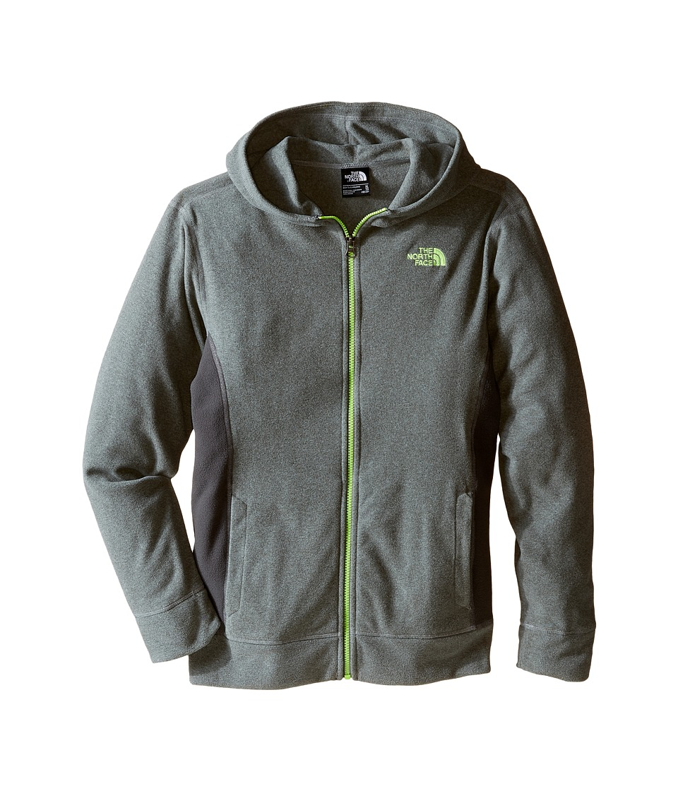 The North Face Kids - Glacier Full Zip Hoodie (Little Kids/Big Kids) (TNF Medium Grey Heather) Boy's Sweatshirt
