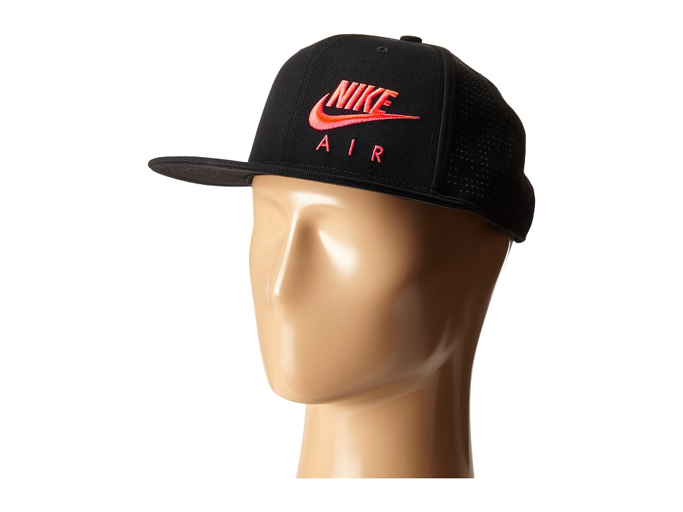 Nike - Air Hybrid True - Red Hat (Black/Rio Teal/Bright Crimson) Caps