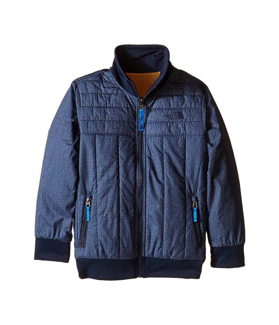 The North Face Kids - Reversible Yukon Jacket (Little Kids/Big Kids) (Cosmic Blue Denim Print) Boy's Coat